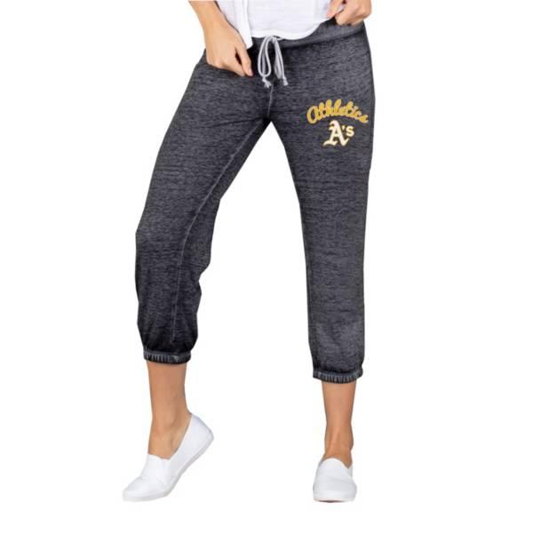 Concepts Sport Women's Oakland Athletics Charcoal Capri Pants product image