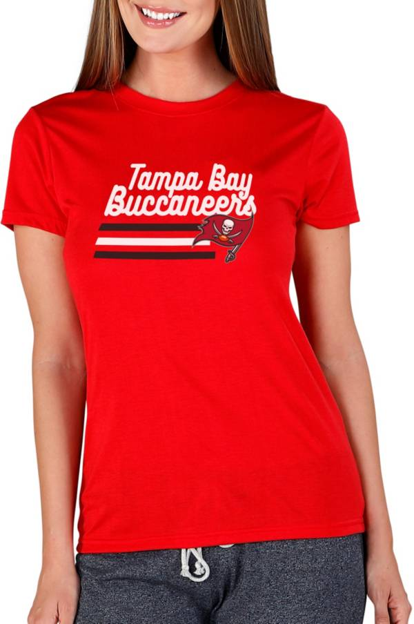 Concepts Sport Women's Tampa Bay Buccaneers Red Marathon V-Neck Long Sleeve T-Shirt product image