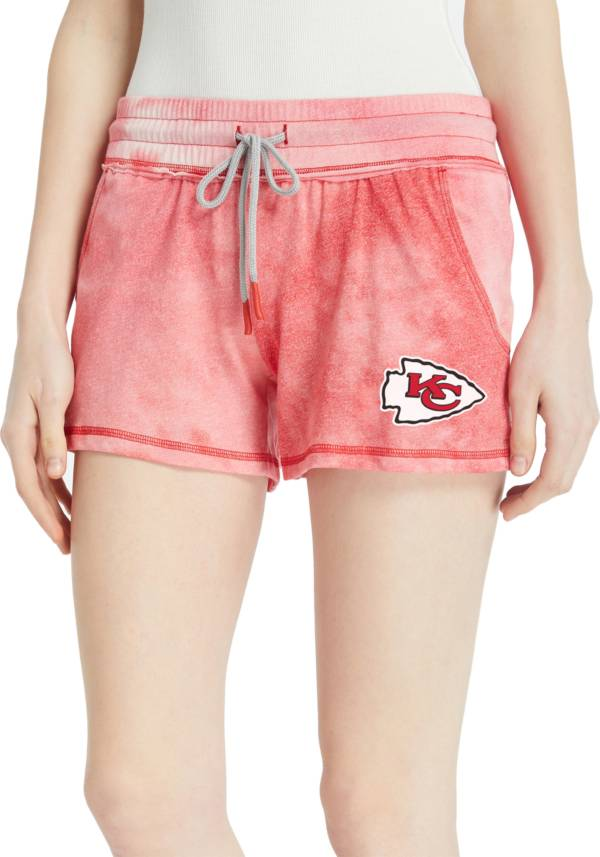 Concepts Sport Women's Kansas City Chiefs Red Tie Dye Shorts product image