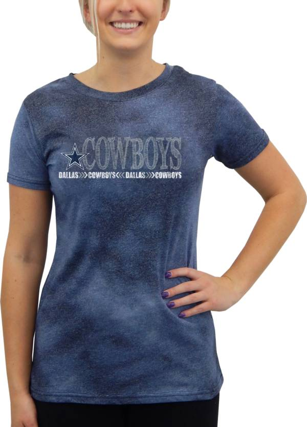 Concepts Sport Women's Dallas Cowboys Tie Dye Navy Short-Sleeve Top product image