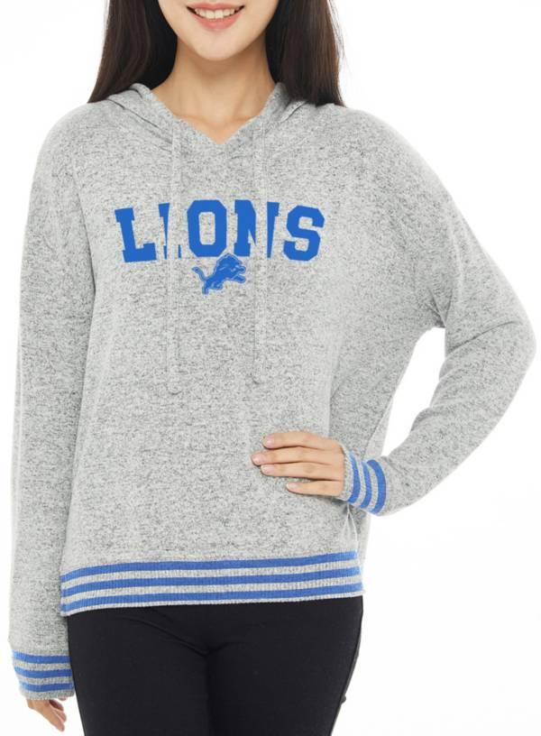 Concepts Sport Women's Detroit Lions Siesta Grey Long Sleeve Hoodie product image