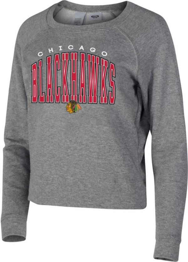 Concepts Sport Women's Chicago Blackhawks Mainstream Grey Sweatshirt product image