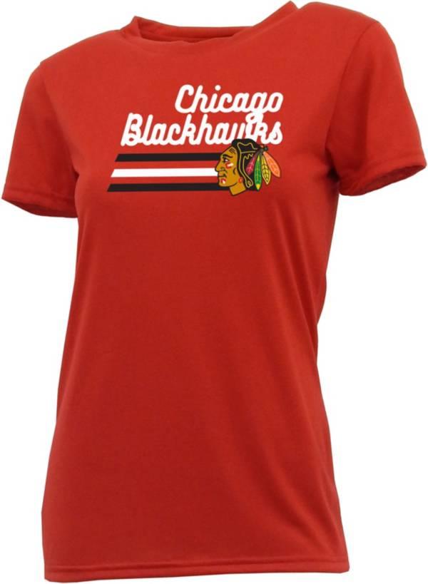 Concepts Sport Women's Chicago Blackhawks Marathon Black T-Shirt product image