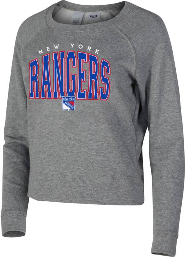 Concepts Sport Women's New York Rangers Mainstream Grey Sweatshirt product image