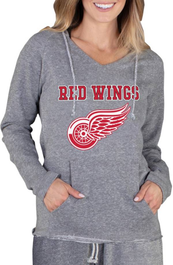 Concepts Sport Women's Detroit Red Wings Mainstream Grey Hoodie product image