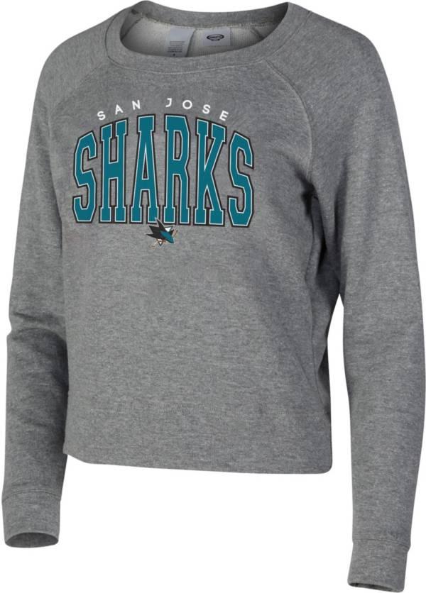 Concepts Sport Women's San Jose Sharks Mainstream Grey Sweatshirt product image