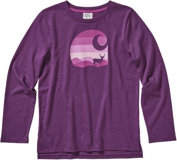 Carhartt Girls' Heather Long Sleeve Graphic Shirt product image