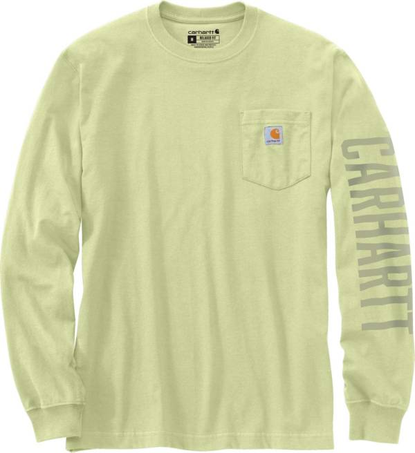 Carhartt Men's Relaxed Fit Heavyweight Pocket Logo Long Sleeve Graphic T-Shirt product image
