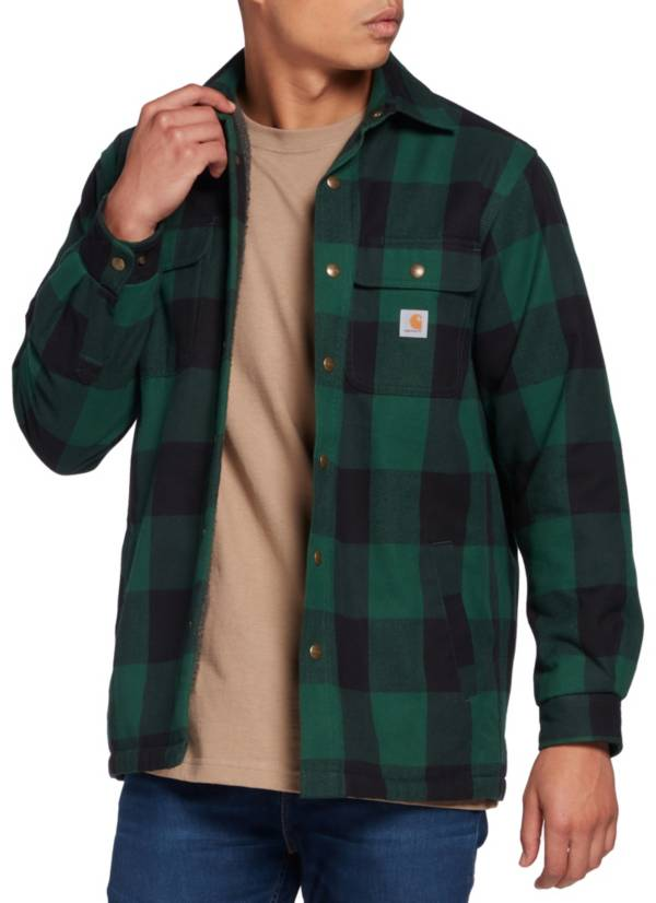 Carhartt Men's Relaxed Fit Heavyweight Flannel Sherpa Lined Shirt Jacket product image