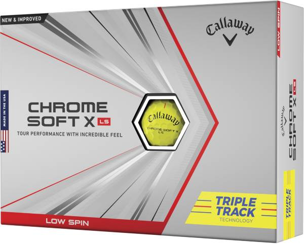 Callaway Chrome Soft X LS Triple Track Yellow Golf Balls product image