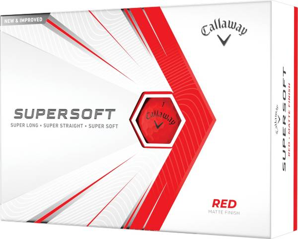 Callaway 2021 Supersoft Matte Red Golf Balls product image