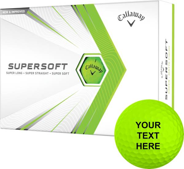 Callaway 2021 Supersoft Matte Green Personalized Golf Balls product image