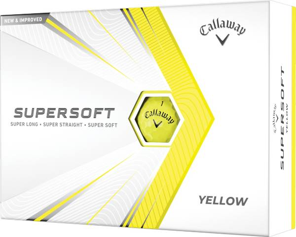 Callaway 2021 Supersoft Gloss Yellow Golf Balls product image