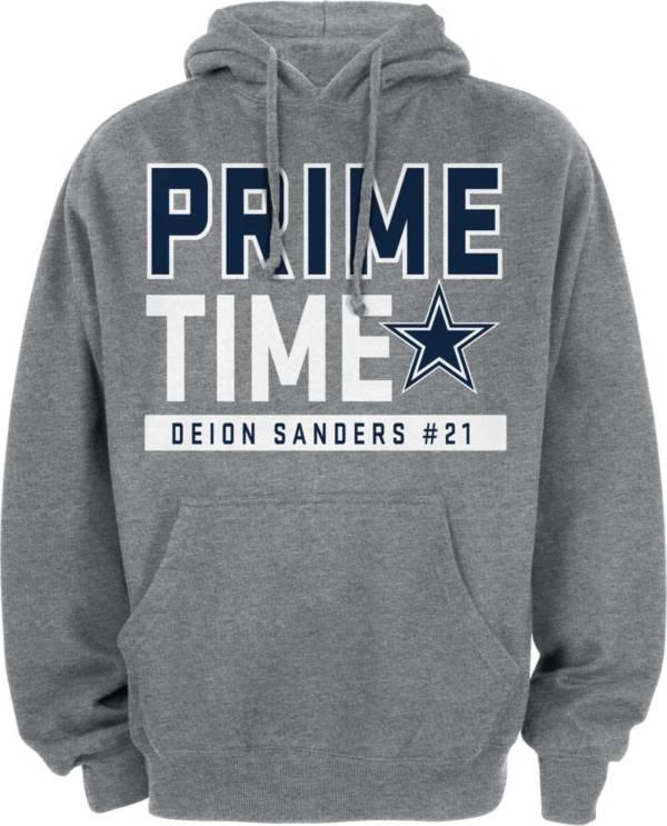 Dallas Cowboys Merchandising Men's Deion Sanders Prime Time Grey Hoodie product image
