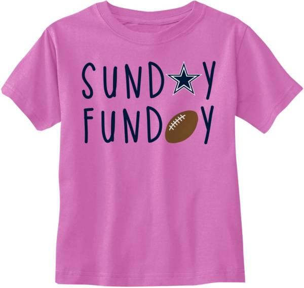 Dallas Cowboys Merchandising Toddler Sunday Funday Pink T-Shirt product image