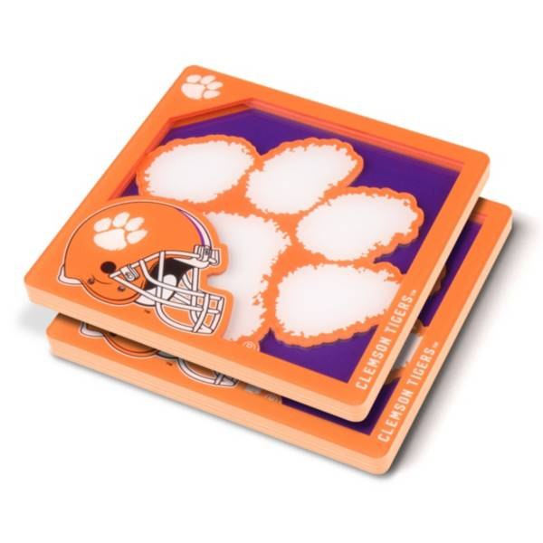 You the Fan Clemson Tigers Logo Series Coaster Set product image