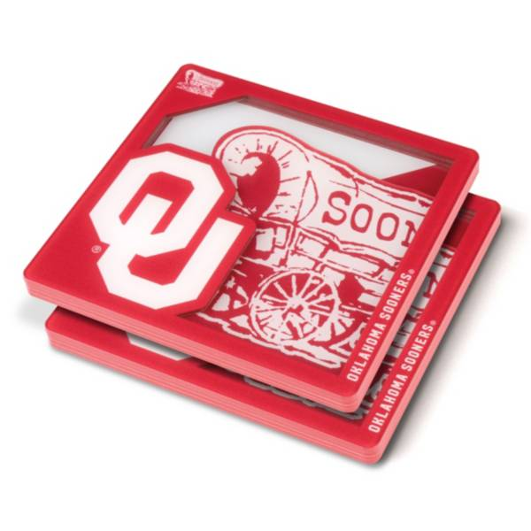 You the Fan Oklahoma Sooners Logo Series Coaster Set product image