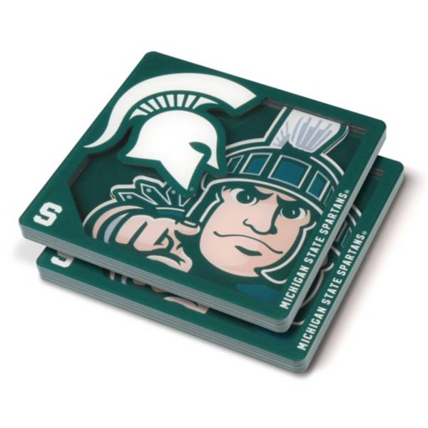 You the Fan Michigan State Spartans Logo Series Coaster Set product image