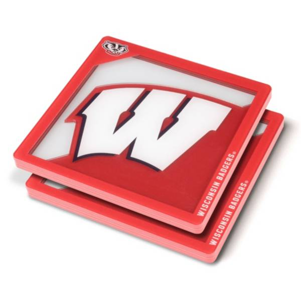 You the Fan Wisconsin Badgers Logo Series Coaster Set product image