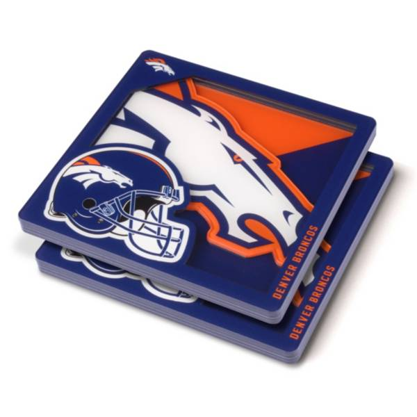 You the Fan Denver Broncos Logo Series Coaster Set product image