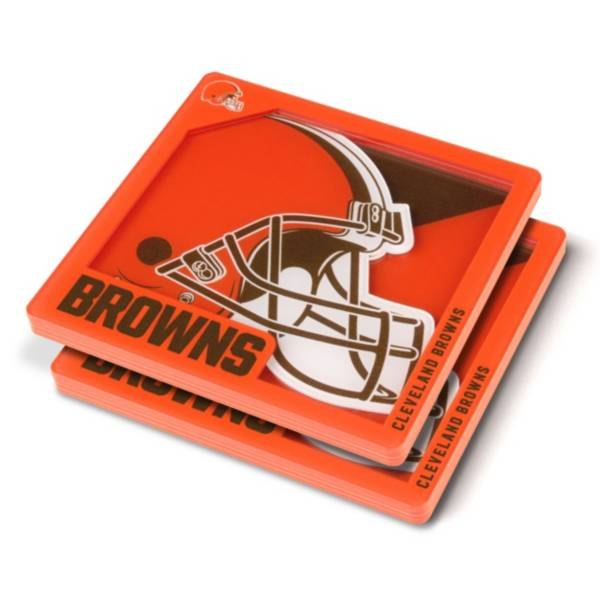 You the Fan Cleveland Browns Logo Series Coaster Set product image