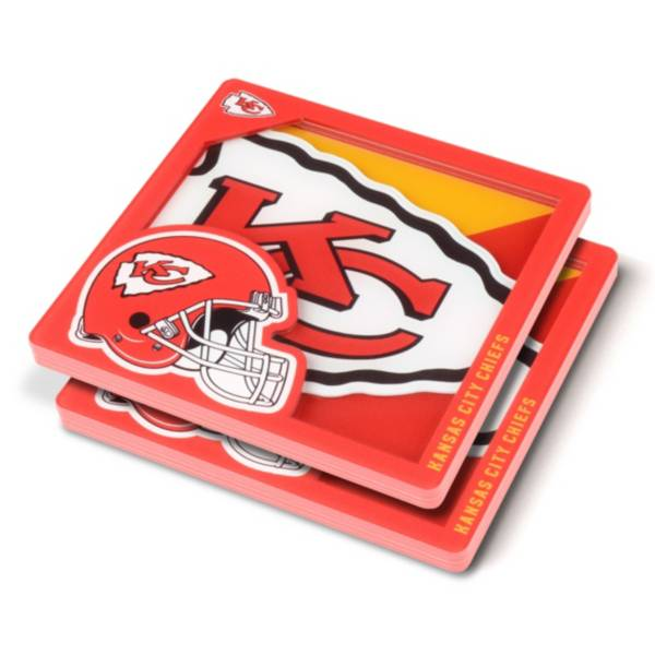 You the Fan Kansas City Chiefs Logo Series Coaster Set product image