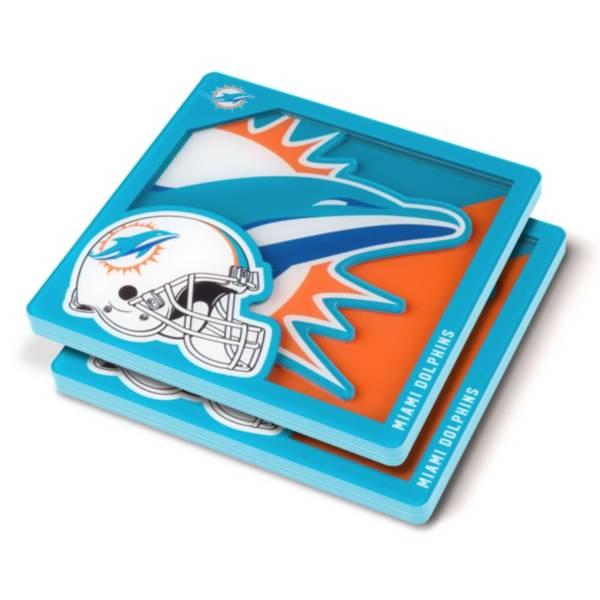 You the Fan Miami Dolphins Logo Series Coaster Set product image