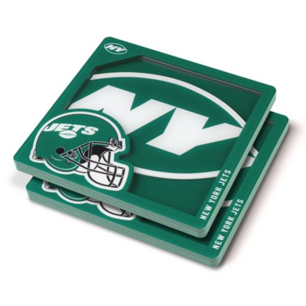 You the Fan New York Jets Logo Series Coaster Set product image