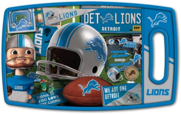 You The Fan Detroit Lions Retro Cutting Board product image