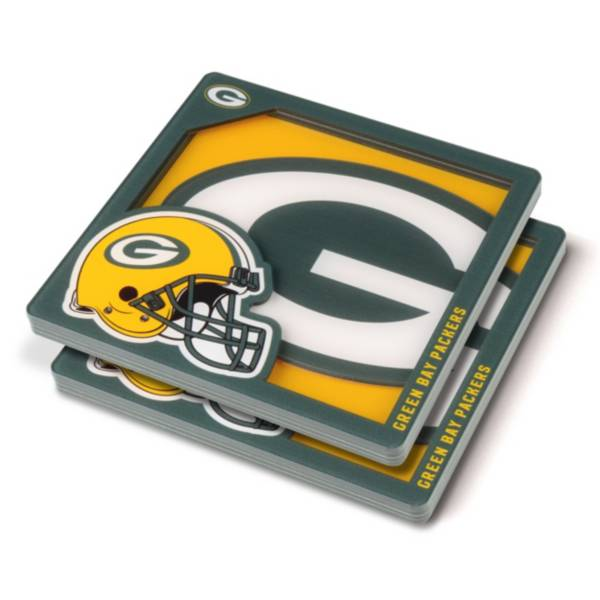 You the Fan Green Bay Packers Logo Series Coaster Set product image