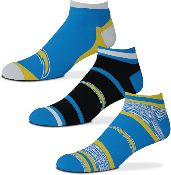 For Bare Feet Los Angeles Chargers 3-Pack Socks product image