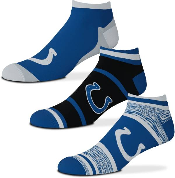 For Bare Feet Indianapolis Colts 3-Pack Socks product image
