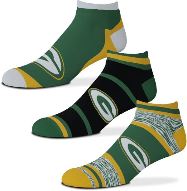 For Bare Feet Green Bay Packers 3-Pack Socks product image