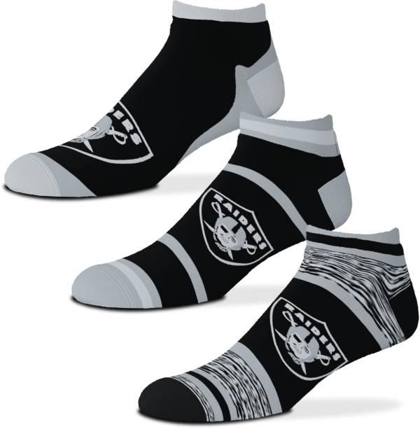 For Bare Feet Las Vegas Raiders 3-Pack Socks product image