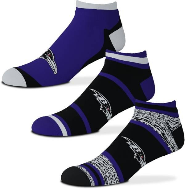 For Bare Feet Baltimore Ravens 3-Pack Socks product image