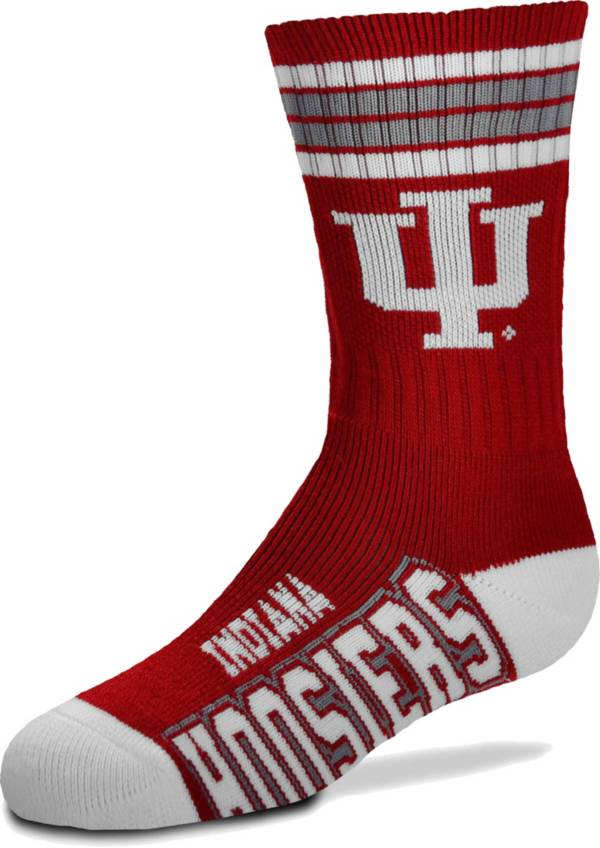 For Bare Feet Youth Indiana Hoosiers 4-Stripe Deuce Socks product image