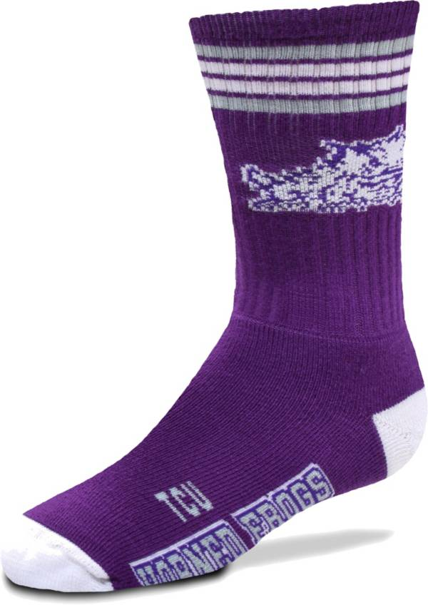 For Bare Feet Youth TCU Horned Frogs 4-Stripe Deuce Socks product image