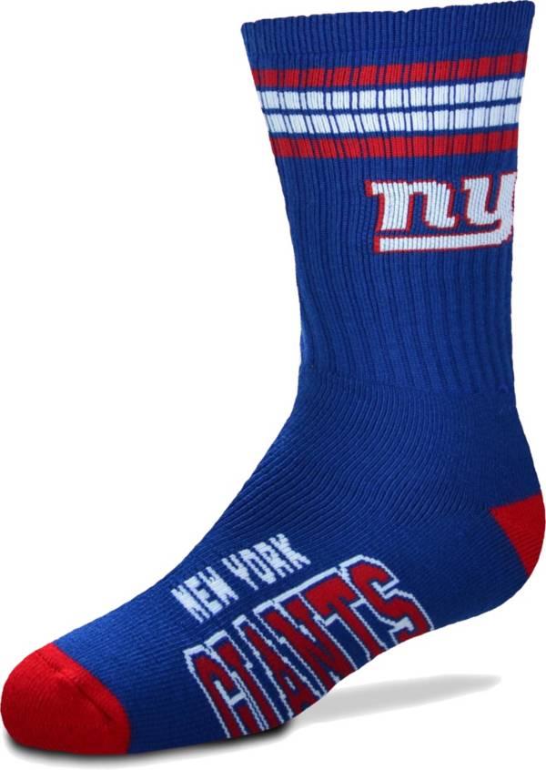 For Bare Feet Youth New York Giants 4-Stripe Deuce Crew Socks product image
