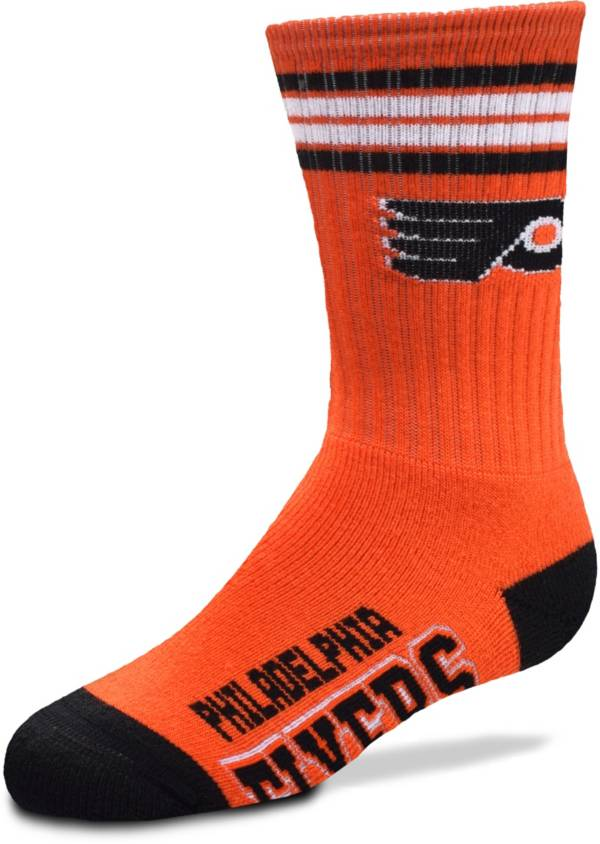 For Bare Feet Youth Philadelphia Flyers 4-Stripe Deuce Crew Socks product image