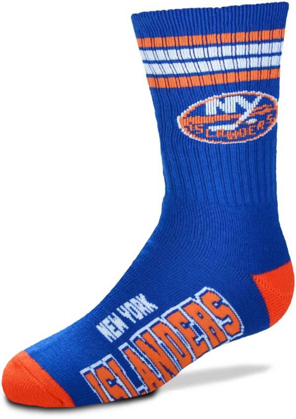 For Bare Feet Youth New York Islanders 4-Stripe Deuce Crew Socks product image