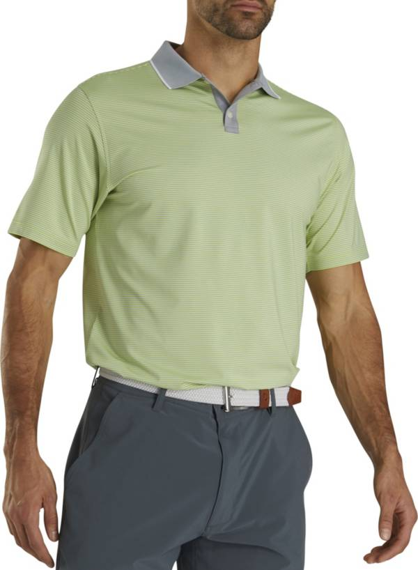 FootJoy Men's Lisle Ministripe Knit Collar Polo product image