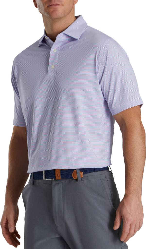 FootJoy Men's Pinstripe Lisle Golf Polo product image