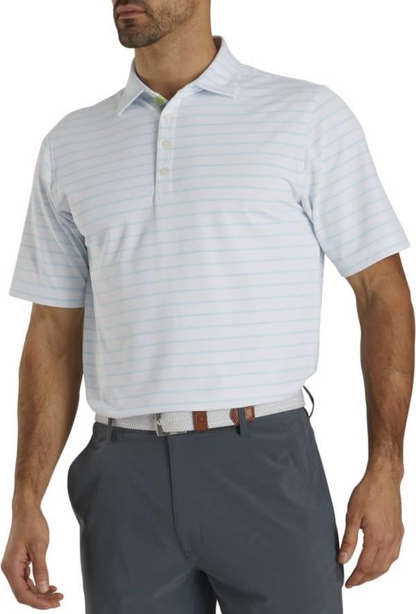 Footjoy Men's Pique Mixed Stripe Self Collar Polo product image