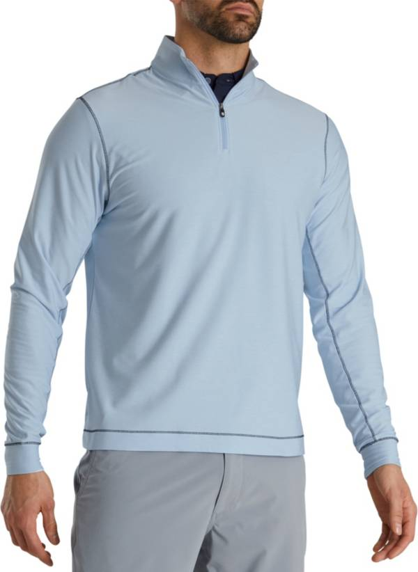 FootJoy Men's Space Dye Brushed Back Jersey ¼ Zip Golf Pullover product image