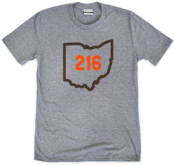 Where I'm From 216 Outline Grey T-Shirt product image
