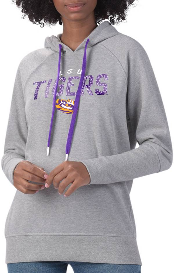 G-III For Her Women's LSU Tigers Grey Ace Pullover Hoodie product image