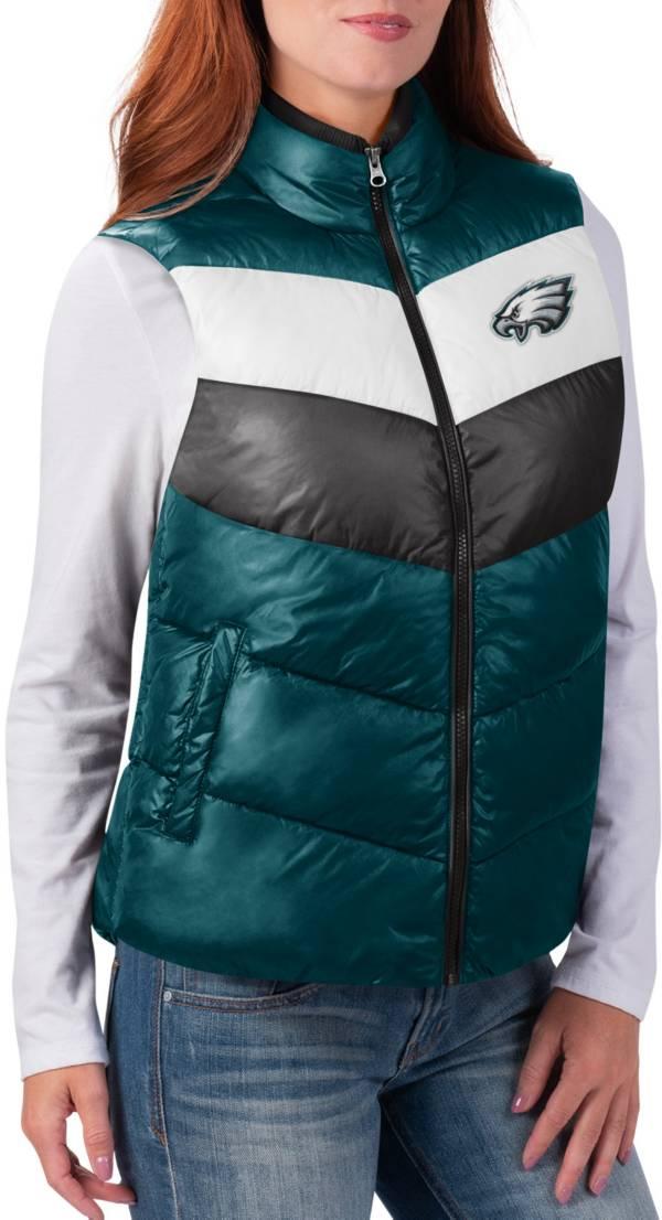 G-III for Her Women's Philadelphia Eagles Rebound Puff Green Vest product image