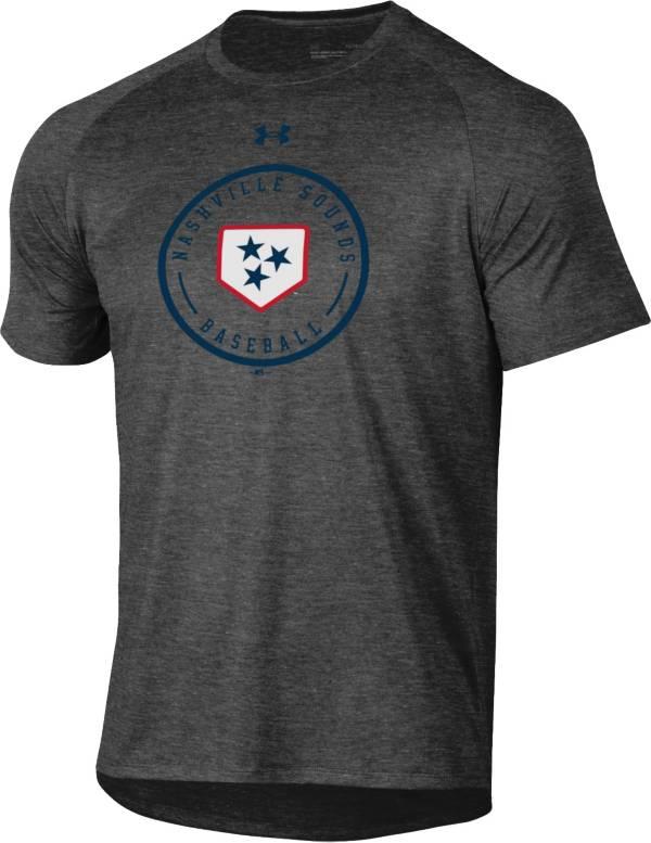 Under Armor Nashville Sounds Grey Baseball Tech T-Shirt product image