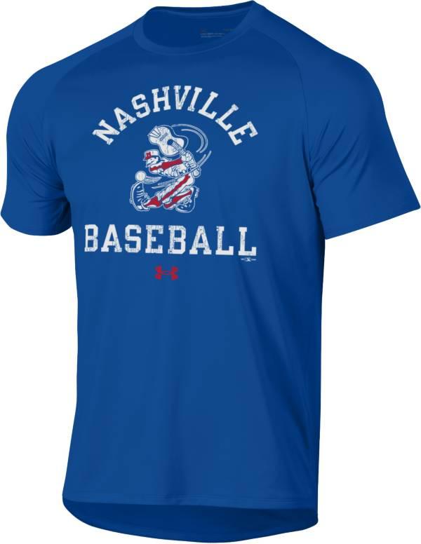 Under Armor Nashville Sounds Blue Baseball Tech T-Shirt product image