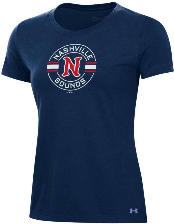 Under Armor Women's Nashville Sounds Navy Baseball T-Shirt product image